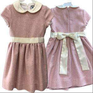 EUC - Rose Tweed Dress with Satin Bow